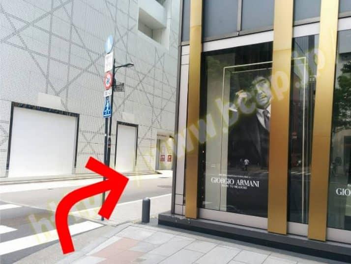 ヴィトゥレ銀座本店のアクセス方法4