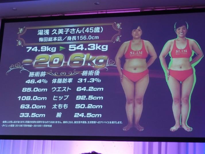 第27回スリムクイーンコンテスト湯浅久美子さん ビフォーアフター